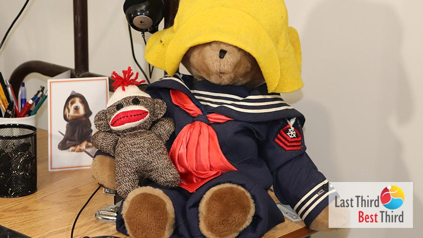 Hanging-Out, A-Stuffed-Bear-and-His-Friend