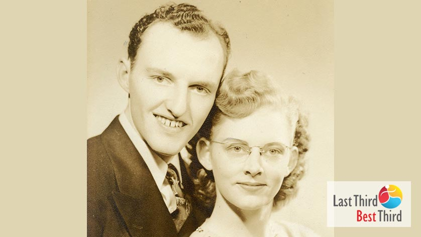 black and white photo of a young couple in love.