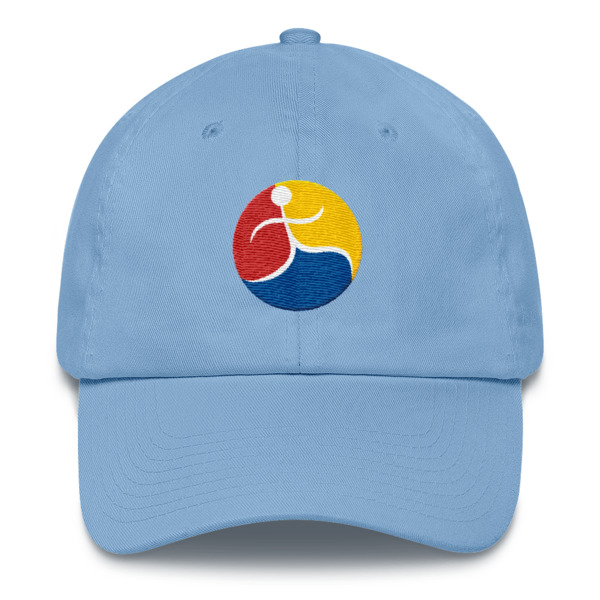 Last Third Best Third logo on blue baseball cap