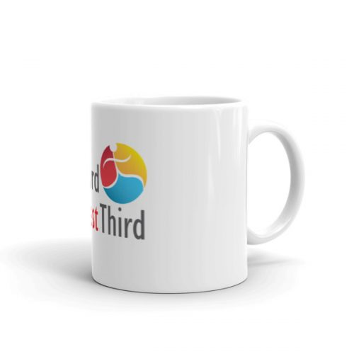 Last Third Best Third logo on white mug