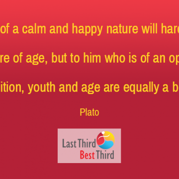 He who is of a calm and happy nature will hardly feel the pressure of age, but to him who is of opposite disposition, youth and age are equally a burden.