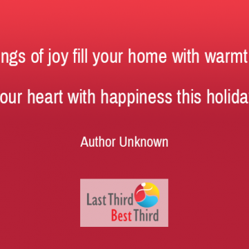 Let Songs Of Joy Fill Your Home With Warmth