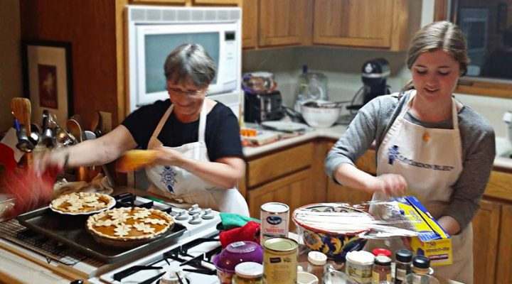 Nancy and Evie Baking Pies