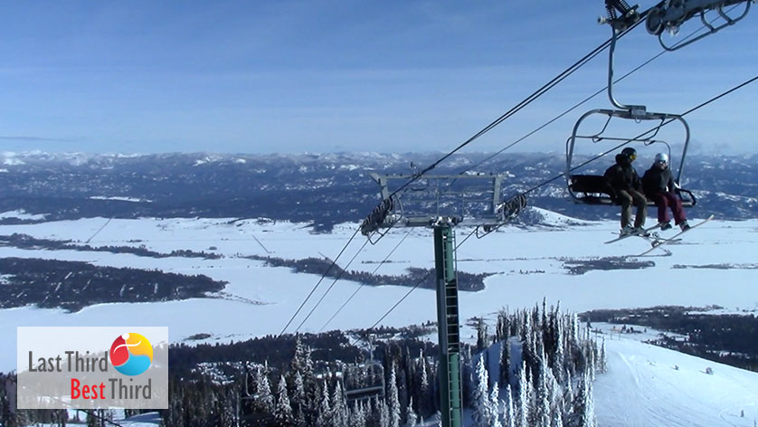 View from the top of the mountain at Tamarack ski resort.